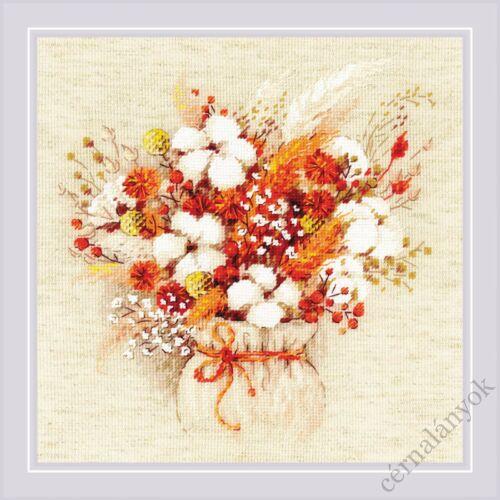 Csokor szárazvirággal - Riolis keresztszemes készlet