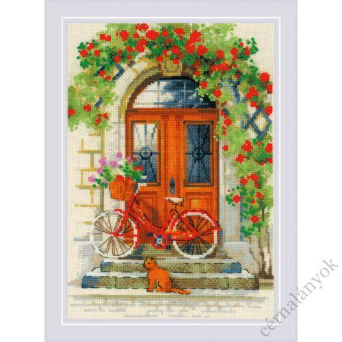 Olasz ajtó - Riolis keresztszemes készlet