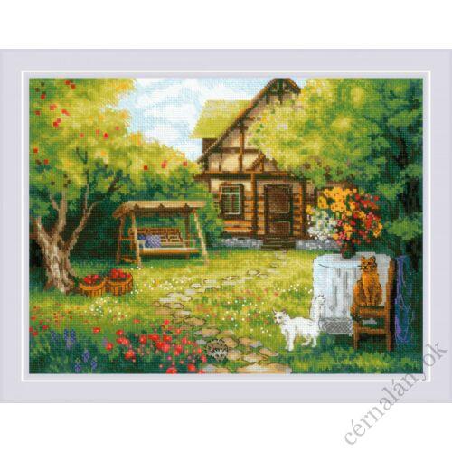 Vidéki ház - Riolis keresztszemes készlet