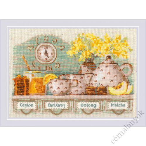 Tea idő - riolis keresztszemes készlet