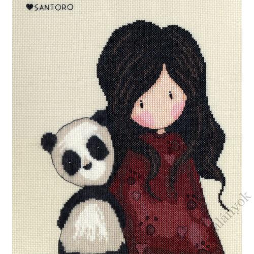 Panda Girl - Gorjuss keresztszemes készlet