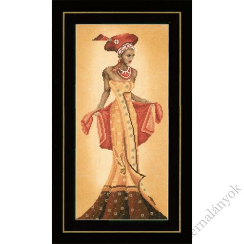 Afrikai divat I. keresztszemes készlet