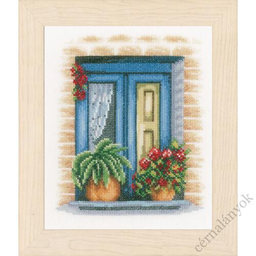 Kék ablak - Lanarte keresztszemes készlet