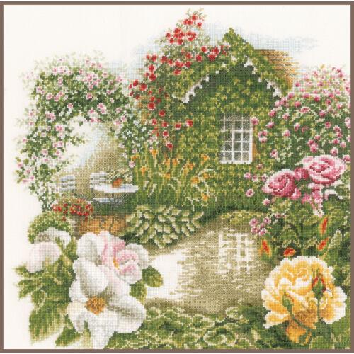 Rózsás kert - Lanarte keresztszemes készlet