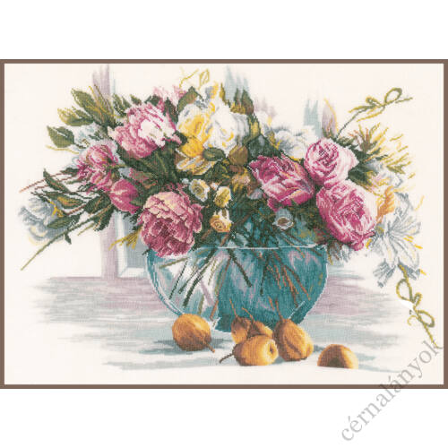 Lanarte keresztszemes készlet - Virágok