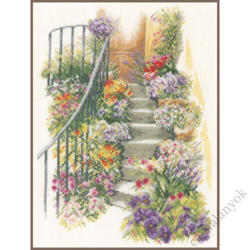 Virágos lépcsők  - Lanarte keresztszemes készlet