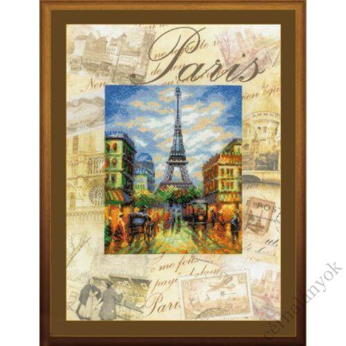 A világ városai. Párizs keresztszemes készlet