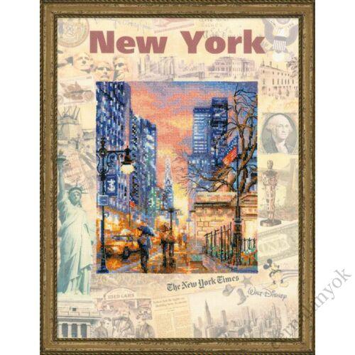 Világ városai. New York keresztszemes készlet