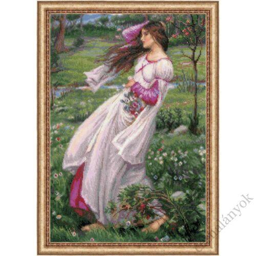 Szellőrózsák J. W. Waterhouse festménye alapján - keresztszemes készlet