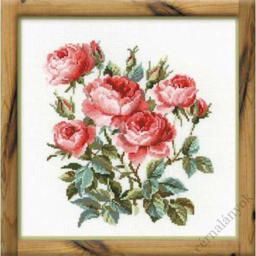 Kerti rózsák - leszámolható keresztszemes készlet