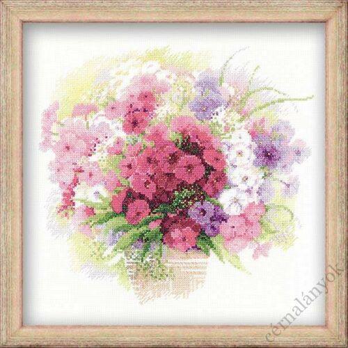 Akvarell lángvirág - keresztszemes készlet