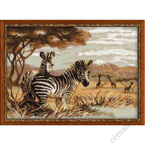 Zebrák a szavannán - Riolis keresztszemes készlet