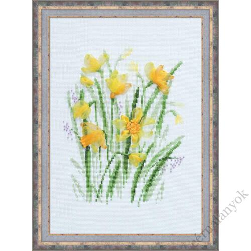 Tavaszi nárciszok - keresztszemes készlet