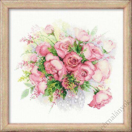 Akvarell rózsák keresztszemes készlet