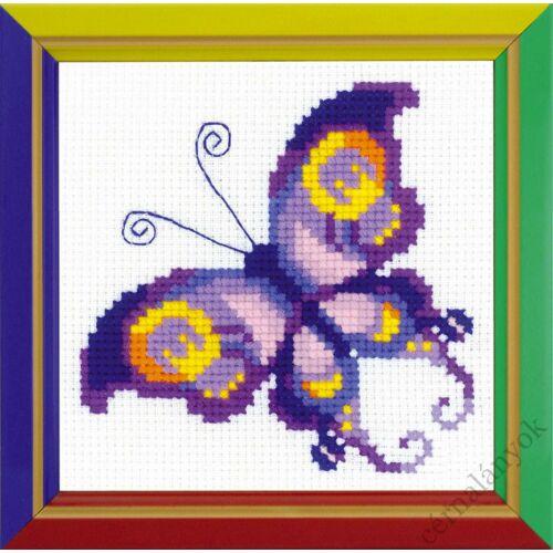 Ametiszt pillangó - keresztszemes készlet