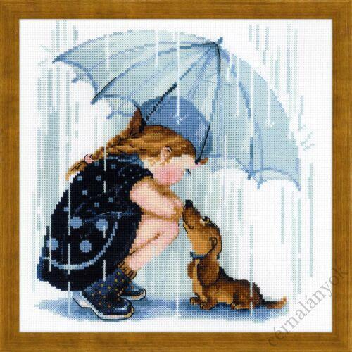 Az esernyőm alatt keresztszemes készlet