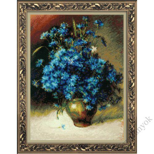 Búzavirágok I. Levitan festménye alapján - Riolis keresztszemes készlet