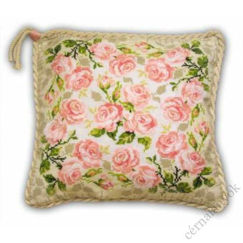 Rózsás párna - keresztszemes kézimunka készlet