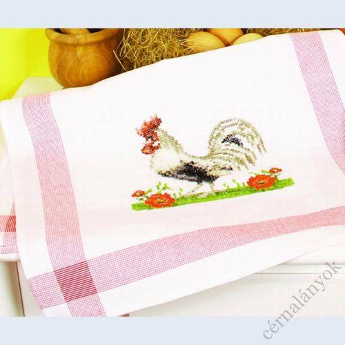 Hímezhető kéztörlő - kakas