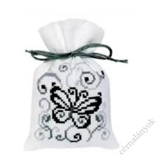 Illatzsák - fekete fehér pillangós