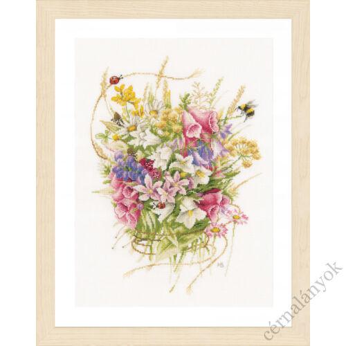Nyári virágok Lanarte keresztszemes készlet
