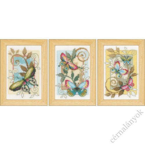 Dekoratív pillangók - Vervaco keresztszemes készlet