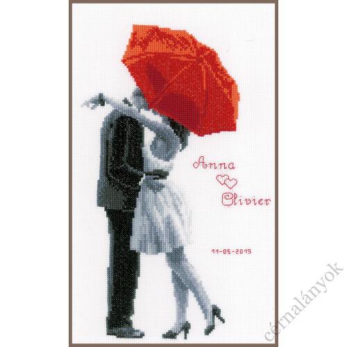 A piros esernyőm alatt - Vervaco keresztszemes készlet