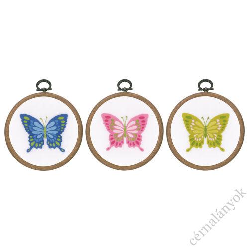Vervaco pillangós hímzőkészlet - 3 darabos
