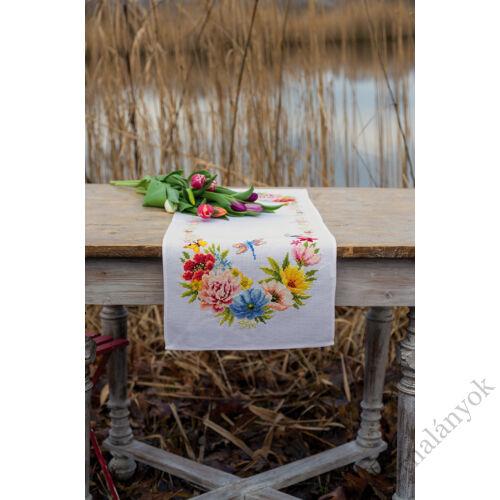 Vervaco - Színpompás virágok - asztali futó