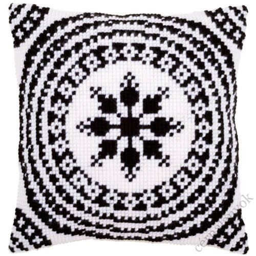 Vervaco keresztszemes párnakészlet - Fehér & Fekete