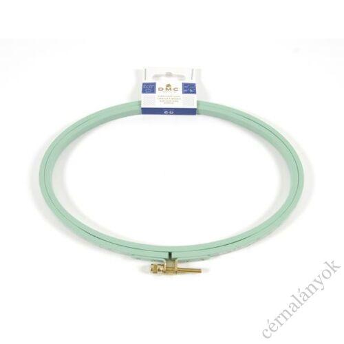 DMC ovális virágos hímzőráma / képkeret - türkiz