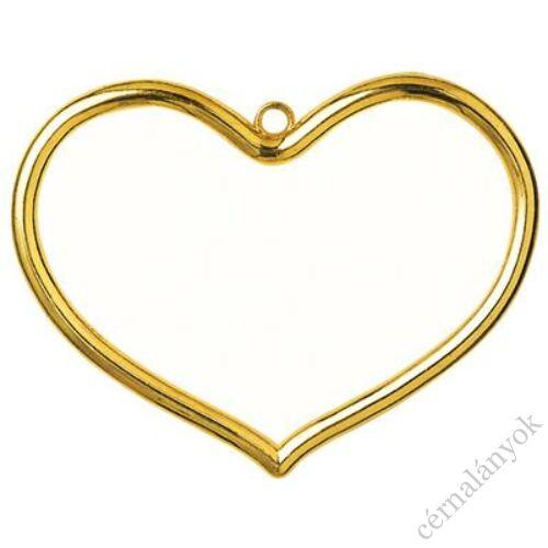 Vervaco műanyag aranyszínű keret - szív forma