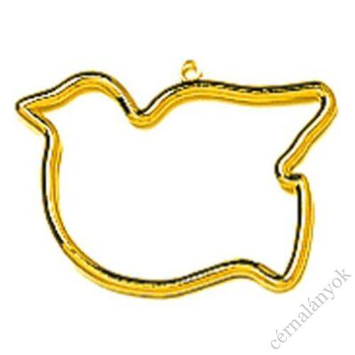 Vervaco műanyag aranyszínű keret - madár forma