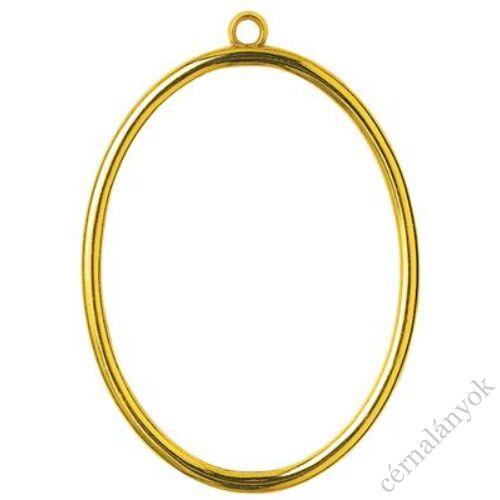 Vervaco műanyag aranyszínű keret - ovális forma