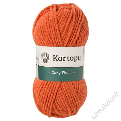Kartopu Cozy Wool fonal - narancs