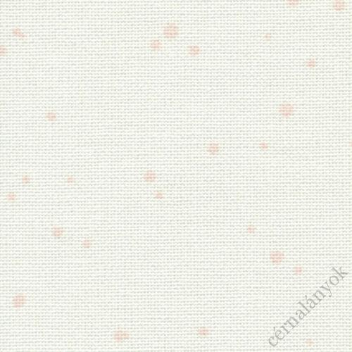 Zweigart Murano Splash - 32 ct - fehér alapon rózsaszín mintás hímzővászon 70 x 50 cm