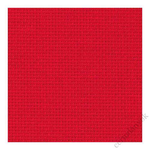 Zweigart karácsonyi piros Aida - 14 ct (110 cm széles)