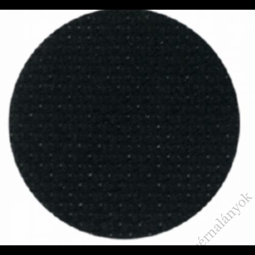 Zweigart Fein Aida - Fekete 18 ct (110 cm széles)
