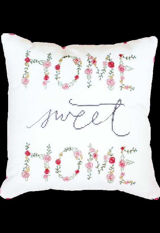 Home Sweet Home - keresztszemes párna készlet