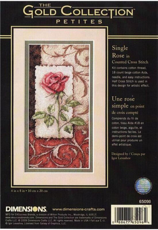 Rózsaszál - keresztszemes készlet