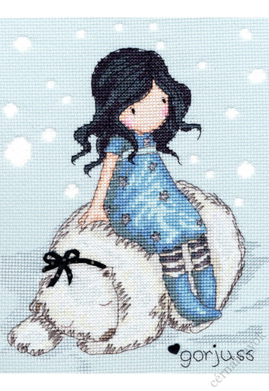 Winter Friend - Gorjuss keresztszemes készlet
