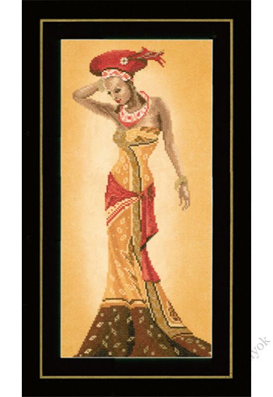 Afrikai divat II. keresztszemes készlet