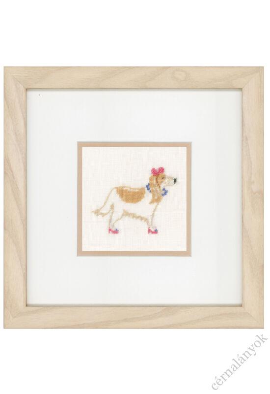 kutya-rózsaszín-masnival