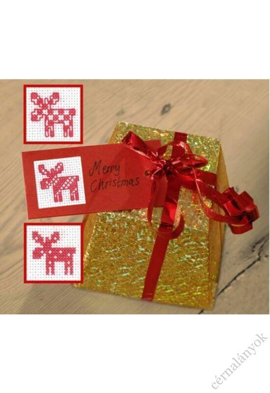 Karácsonyi ajándékkísérő - szarvasos