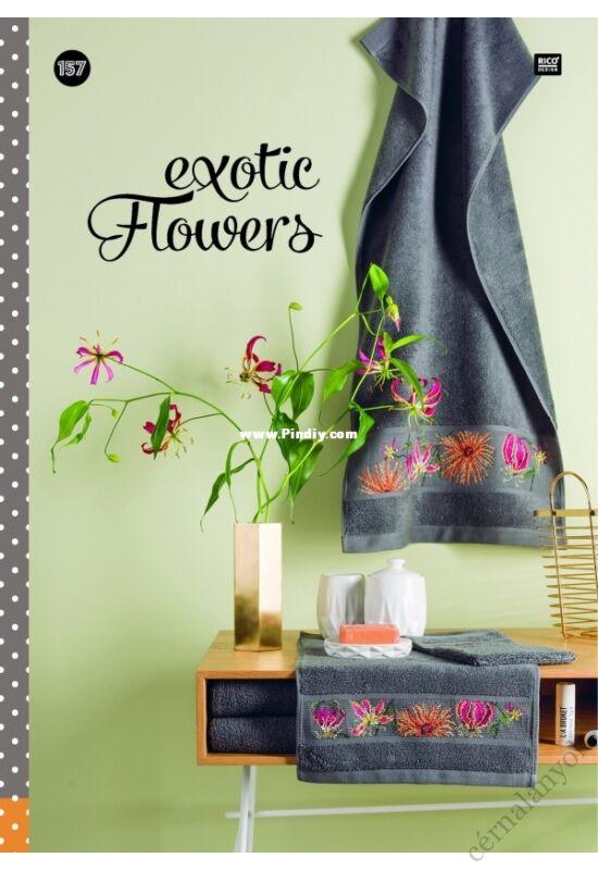 Exotic Flowers  - Rico  keresztszemes mintafüzet
