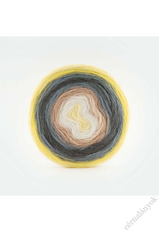 Papatya Cake - színátmenetes kötőfonal 206: sárga, szürke, bézs