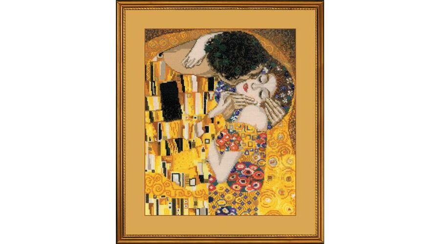 5a47c5f857 Klimt: A csók - keresztszemes készlet 丨 Cérnalányok Kézimunka Webáruház