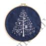 Kép 2/2 - DMC karácsonyi kék Aida - 14 ct (110 cm széles)