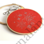 Kép 2/2 - DMC karácsonyi piros Aida - 14 ct (110 cm széles)