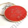 Kép 2/2 - DMC karácsonyi piros Aida - 14 ct (55x50 cm)